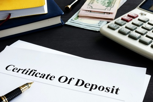 Certificate of deposit paperwork on a desk
